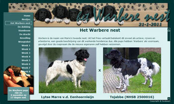 Friese Stabij pups, Warbere nest